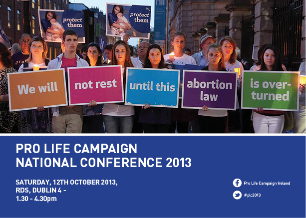 14.10.2013: Over 600 attend Pro Life Campaign National Conference in the RDS