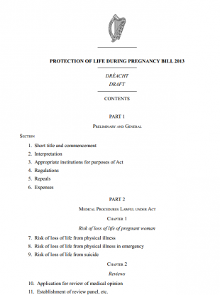 """07.07.2013: Minister Reilly's amendment to abortion bill """"adds insult to injury"""", says Dr Ruth Cullen"""