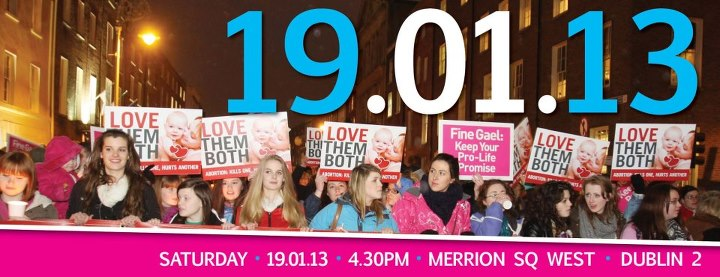 12.12.2012: Unite For Life Pro-Life Vigil, 19th January 2013