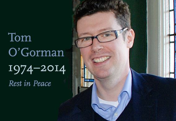 13.01.2014: PLC mourns loss of Tom O'Gorman RIP