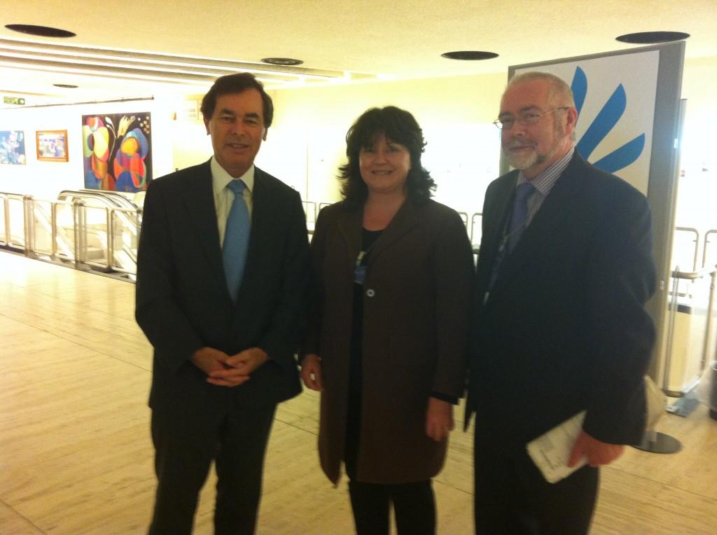 Caroline Simons, Minster for Justice Alan Shatter, Professor Tom Cooney