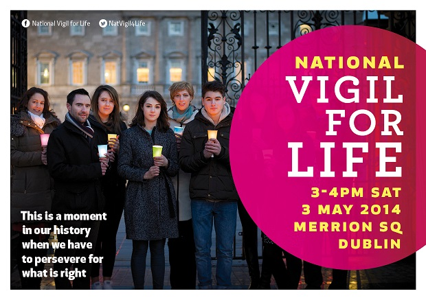 28.03.2014: Plans announced for National Vigil For Life on 3rd May