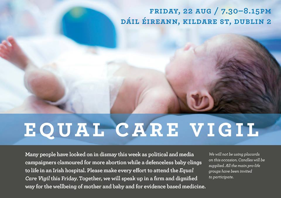 20.08.2014: Equal Care Vigil this Friday 22nd August in Dublin