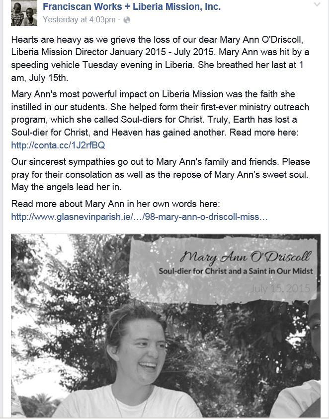 Mary Ann Liberia 1