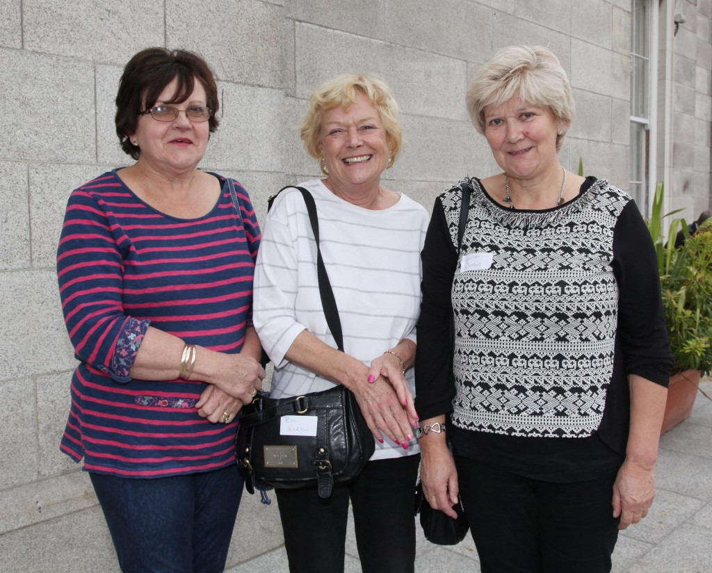 10.10 2015 PRO LIFE CAMPAIGN NATIONAL CONFERENCE. Last Saturday (10.10.15) the Pro Life Campaign held it's National Conference in the RDS in Dublin. Pic shows Lynn Mac Allister, Rita Dunphy and Maureen Page from Co Wicklow who attended the Pro Life National Conference in RDS in Dublin last Saturday. Pic John Mc Elroy. NO REPRO FEE.