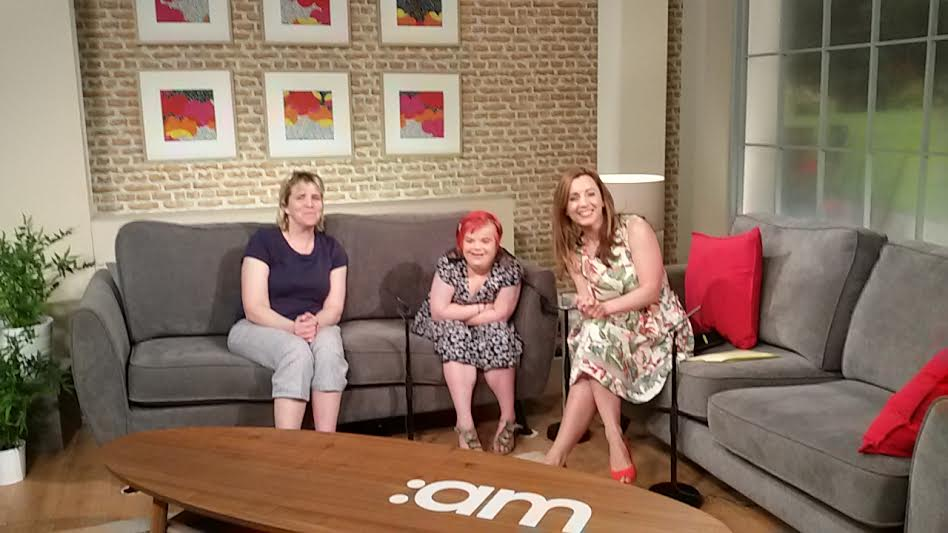 10.06.2016: Heidi Crowter and her mum Liz on Ireland AM