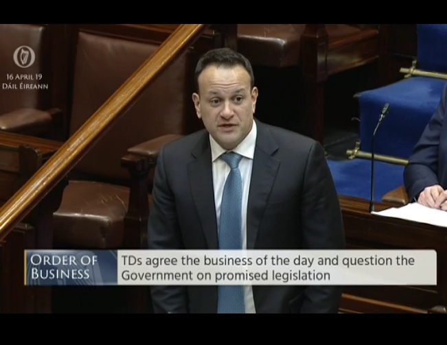 16.04.2019: Taoiseach finally concedes exclusion zones undermine  'free speech' and right to 'peaceful protest'