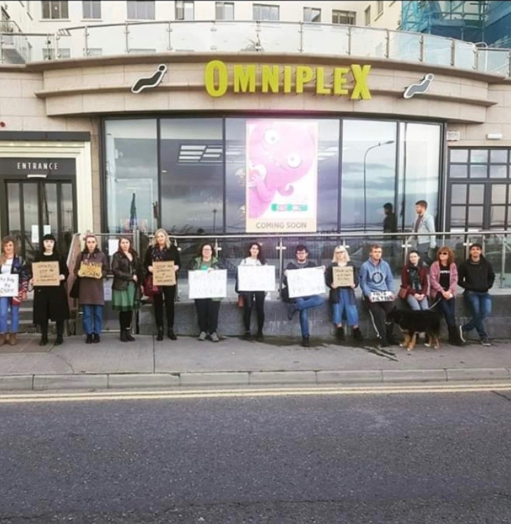 4.10.2019: PLC describes as 'bizarre and intolerant' protest by abortion campaigners outside Galway cinema