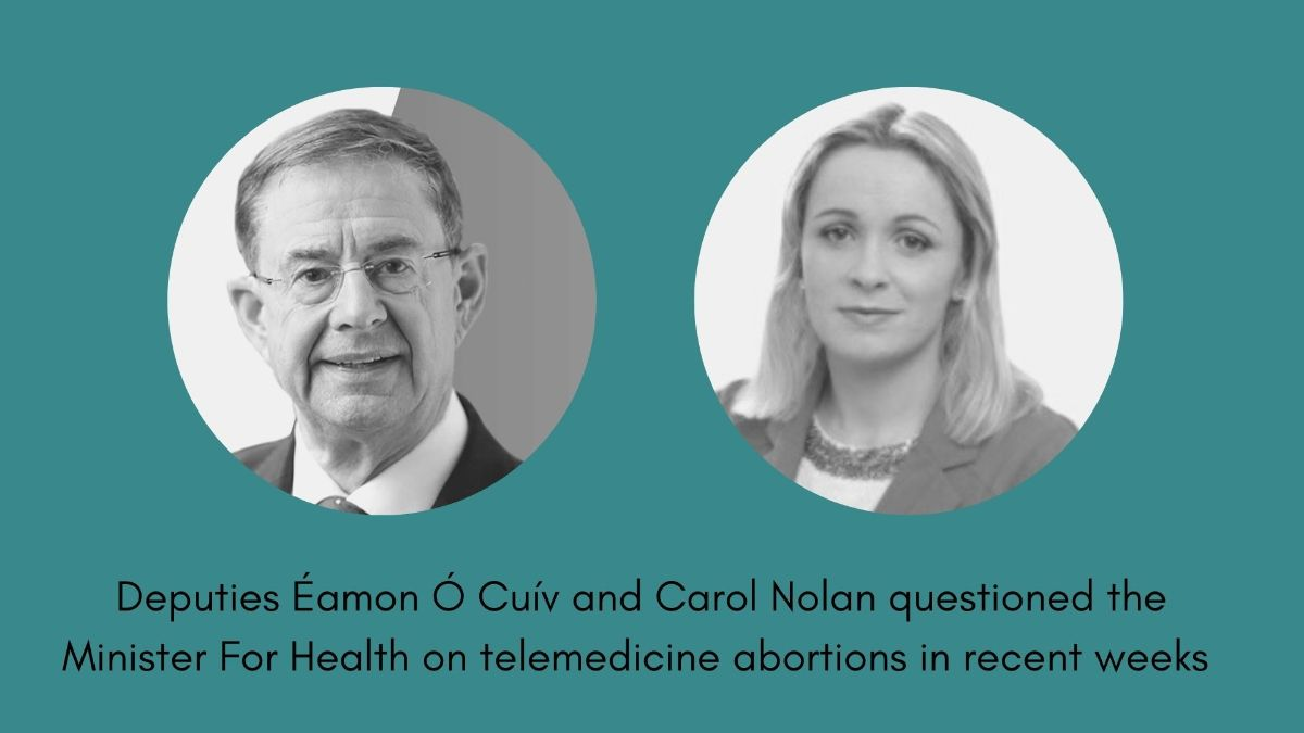 24.07.2020 Minister for Health side-steps question on whether practice of telemedicine abortions will end